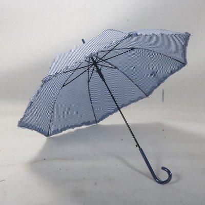 免運--名古屋Sky Promenade經典細格紋花邊女士優雅長柄晴雨傘#加固 #小清新 #晴雨兩用