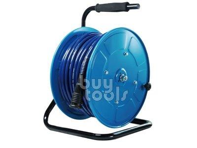台灣工具-Air Hose Reel《專業級》行動式手動風管輪座/風管捲揚器-40M、收納省時省力/工地移動方便「含稅」