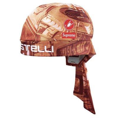 全新正品SUPREME SS20 Castelli Cycling Skull Cap 自行車帽