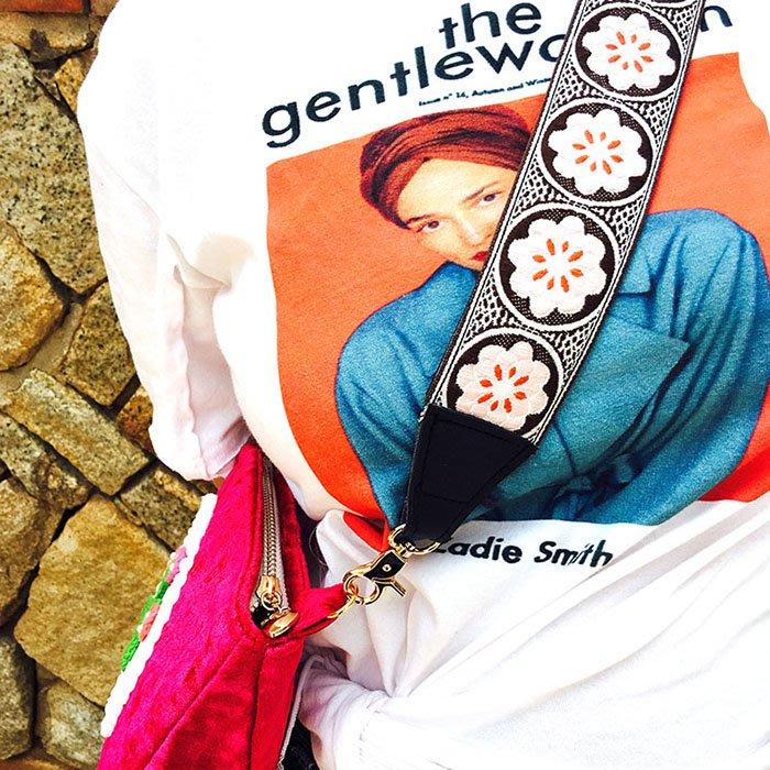 民族風寬肩帶女包背帶DIY配飾波西米亞編織刺繡單肩斜背包/側背包帶