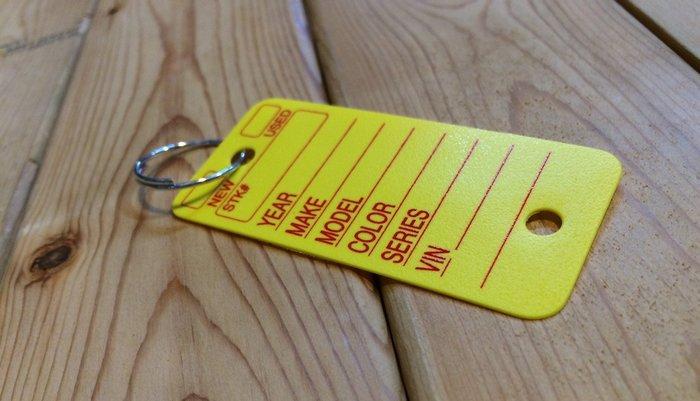 (I LOVE樂多)美國進口 美式鑰匙填寫識別卡鑰匙圈 情境裝飾/配件/多用途