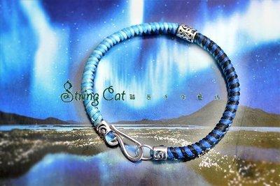 【String Cat】《Whirlwind》原創 925純銀 蠶絲蠟線 金剛結 個性炫彩手鍊