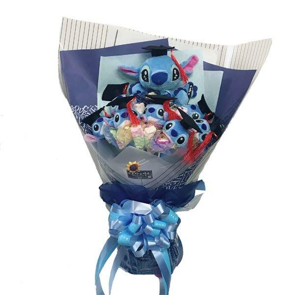 娃娃屋樂園~畢業-史迪奇+棉花糖分享花束-可一支支抽取喔~ 每束1800元/花束商品/畢業花束