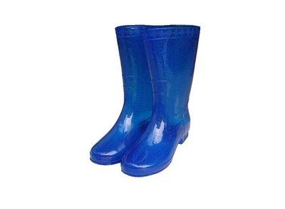 雨鞋 朝日牌女用雨鞋(藍色) 特製耐力膠-台灣製造-耐磨-好穿【同同大賣場】