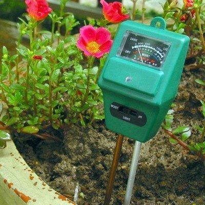 花園園藝檢測儀器土壤測量儀正品土壤濕度計光照度計PH值酸堿度計 3215b