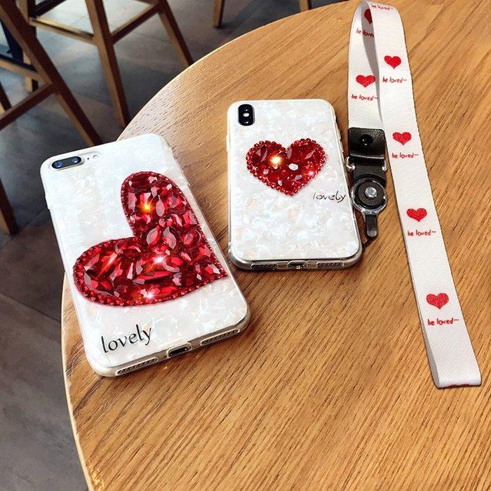 XR手機殼Apple保護套保護殼正韓國版XS MAX潮牌蘋果7plus手機殼新款iphoneX寶石x帶掛繩iphone7