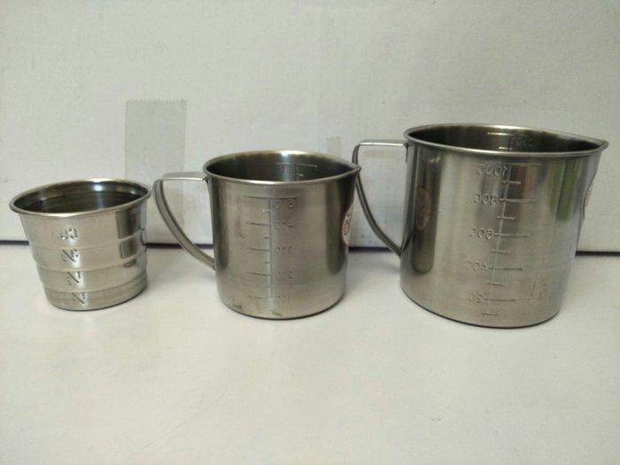 量杯 304不鏽鋼量杯 鋼杯 口杯 牙刷杯 漱口杯 單耳杯 1000cc台灣製造一入