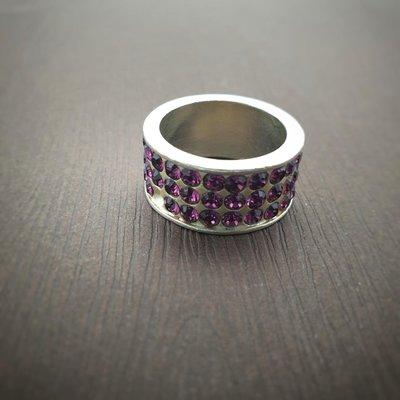 DYRBERG/KERN 神祕紫 施華洛士奇水晶 戒指 打翻珠寶盒r188