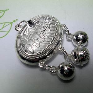 琥珀貓銀飾DIY【990純銀飾品】吉祥墜飾~N9684~長命鎖~26mm~一個