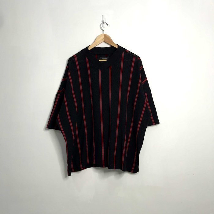 (Used) Represent Stripe Jersey 黑紅 網狀 透氣 線條 短袖 短T 現貨