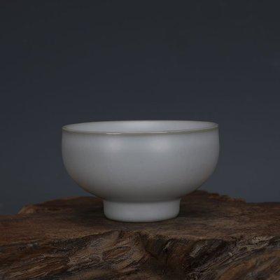 ㊣姥姥的寶藏㊣ 汝窯手工瓷白釉功夫茶杯酒杯景德鎮  古瓷器古玩古董收藏復古擺件