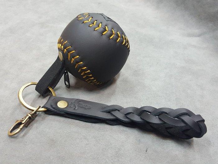 FS手工製做~棒球造型Nappa牛皮零錢包