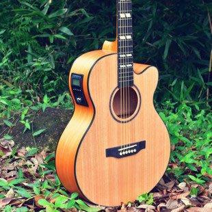 Guitarist 40寸電箱民謠吉他 雲杉南陽木 練習琴 初學者演出彈奏【立派樂器】