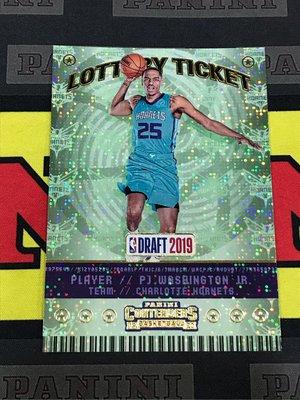 2019-20 Contenders PJ Washington Jr. Lottery Ticket RC