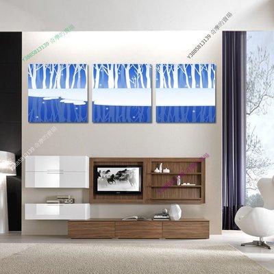 【60*60cm】【厚2.5cm】藍色抽象-無框畫裝飾畫版畫客廳簡約家居餐廳臥室牆壁【280101_288】(1套價格)