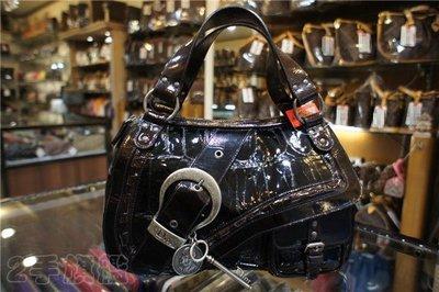二手旗艦 Christian Dior Gaucho 咖啡色 馬鞍包/高楚包/手提包 (中友店)11504