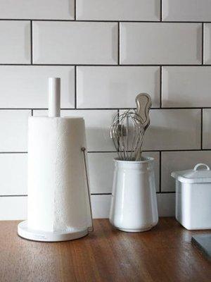 微瑕疵特價.日本Homestead鋼鐵製廚房紙巾架