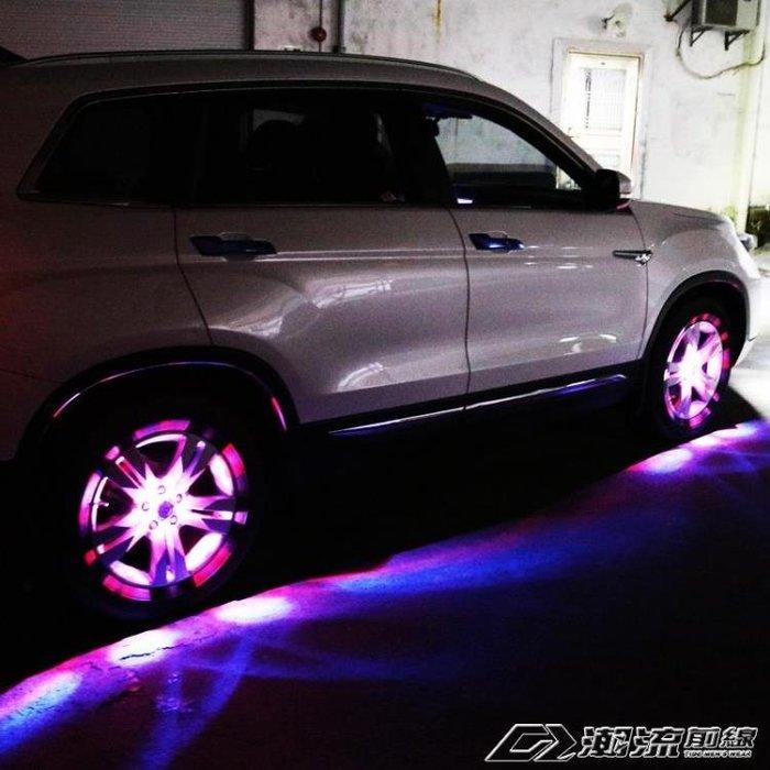 七彩汽車太陽能輪轂燈跑馬燈裝飾燈LED爆閃燈輪胎燈風火輪改裝燈