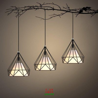 【美學】現代簡約工業風吊燈復古燈具鐵藝三頭餐廳吊燈MX_432
