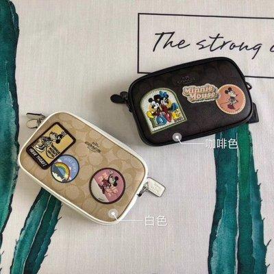 美國正品 琪琪OUTLET代購 COACH 31349 新款DISNEY雙拉鏈手拿包 女士斜跨手拿包 附購買憑證