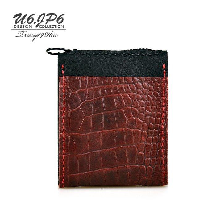 【U6.JP6 手工皮件】-純手工縫製進口牛皮 .零錢包 / 卡片夾 / 名片夾 / 萬用包(男女適用)