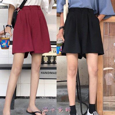 時尚佳人=黑色休閒短褲女新款韓版ins...