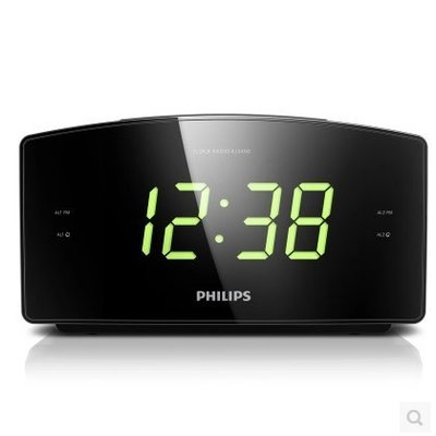 PHILIPS飛利浦 AJ3400/79 大螢幕雙鬧鐘 時鐘,收音機FM 定時關機,全新