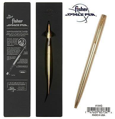 【angel 精品館 】美國 Fisher太空筆(Space Pen) Cap-O-Matic / 金色 M4G