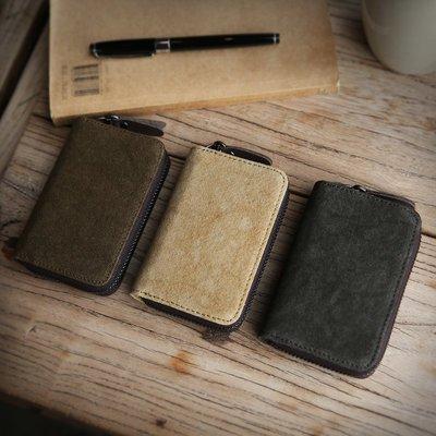 【浪漫汐草街】 新款韓版大容量卡包男個性帆布風琴多卡位銀行卡套名片包拉鏈零錢包