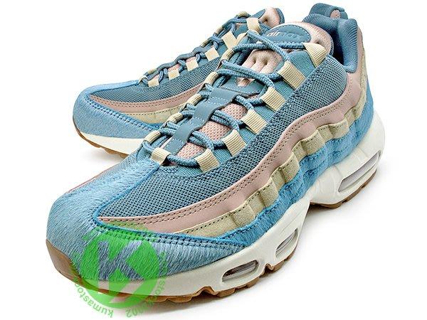 女鞋大尺碼 男生尺寸 NIKE WMNS AIR MAX 95 LX 粉藍色 膠底 馬毛 麂皮 AA1103-002