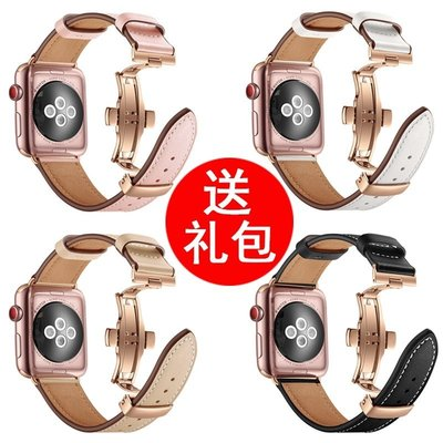 【麗魅生活】適用iwatch4表帶真皮apple-rll