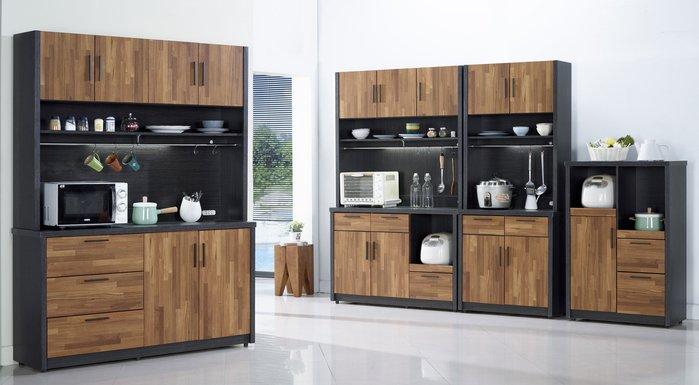 FA-411-1  尚恩5尺雙色碗盤櫃(上+下)/大台北區/衣櫃/系統家具/床墊/茶几/高低櫃/1元起/最低價/高品質
