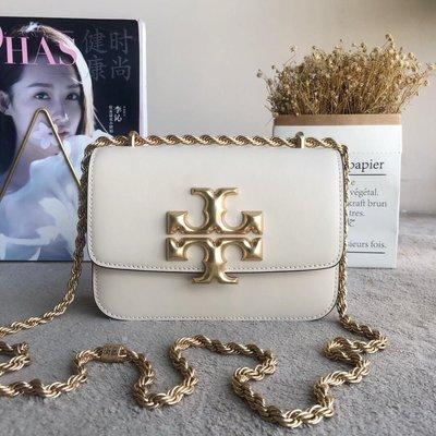 Alina 精品代購TORY BURCH 美國輕奢時尚 白色大號BOX斜背包 美國代購