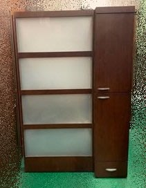 【宏品二手家具】 台中全新中古傢俱家電最便宜 A12611*胡桃屏風櫃* 衣櫃/高低櫃/置物櫃/電視櫃/矮櫃/平面櫃