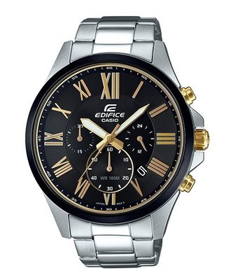 CASIO 卡西歐 EDIFICE  簡潔精準的賽車錶標準三針三圈設計 EFV-500DB-1  EFR-526D-1A