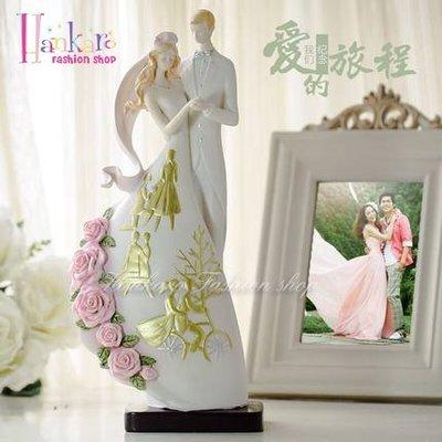 ☆[Hankaro]☆ 婚慶系列商品新郎新娘精緻浪漫婚禮人型擺飾新婚禮品
