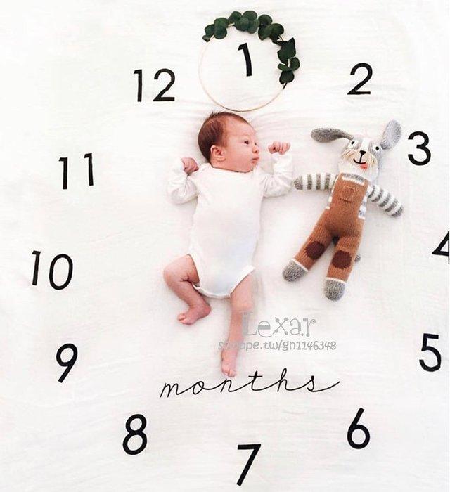 嬰兒拍照背景布寶寶創意月份攝影道具毯子新生兒攝影服飾