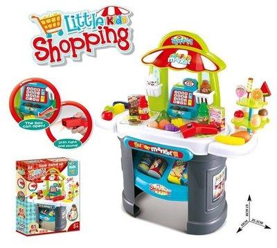 新款仿真超市購物廚房組~多功能廚房組合購物遊戲桌~仿真家家酒玩具~◎童心玩具1館◎
