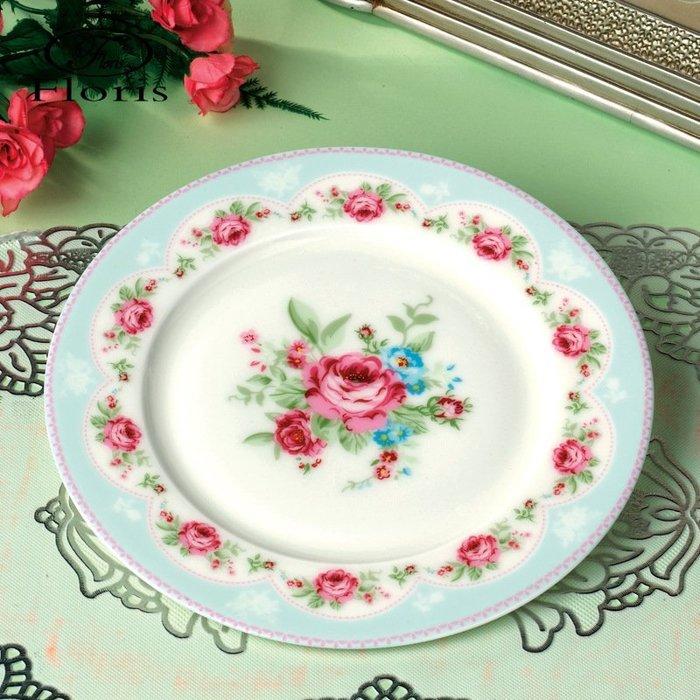 粉紅玫瑰精品屋~玫瑰骨瓷點心盤 水果盤~