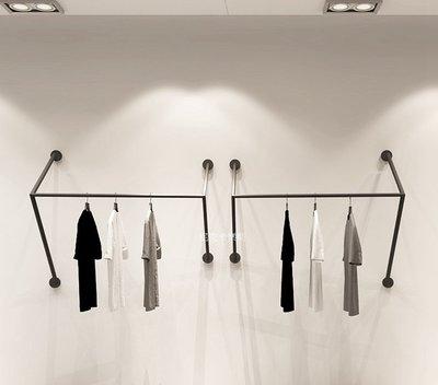 尼克卡樂斯 ~極簡鐵製工字型壁掛衣架 ...