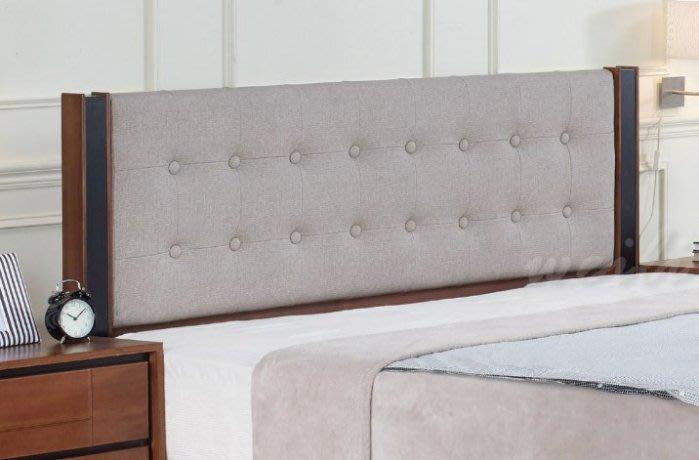 【DH】商品貨號N530-7商品名稱《杰姆》5尺淺胡桃雙人床片(圖一)不含床底/備有六尺另計。主要地區免運費