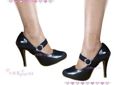 小朵窩~ 閃亮金框愛心咬鑽 圓型 方型束鞋帶 水鑽 高跟鞋.低跟鞋.專櫃鞋舞鞋可鞋材BK