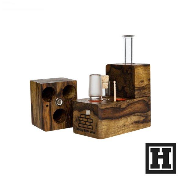 [H Market] 美國原裝 Sticky Brick Maxx 熱對流菸斗 原木製造 Pipe Bong 420
