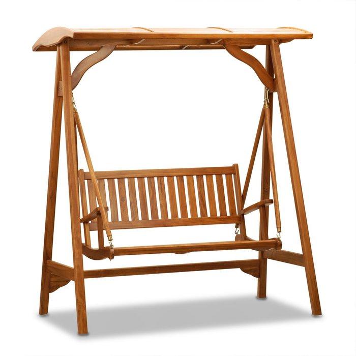 搖椅鞦韆~兄弟牌雙人柚木搖椅(附柚木遮陽頂棚)~原木高質感與綠化結合更貼切,庭院搖曳放鬆,BROTHER戶外家具