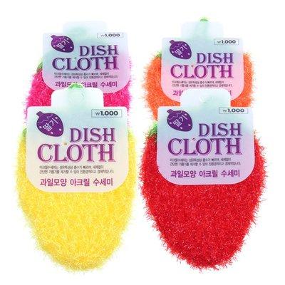 ?現貨?  韓國 草莓洗碗布 韓國創意 手工刮花 可掛 菜瓜布 草莓 洗碗巾 沐浴巾