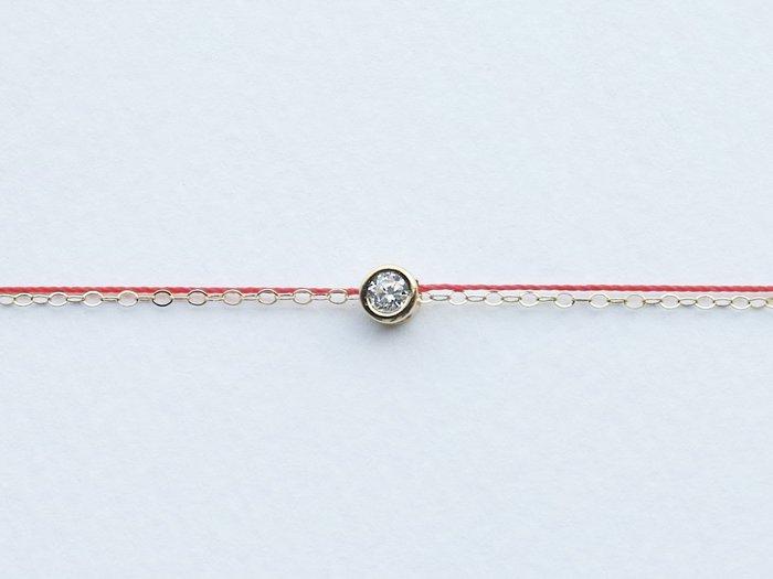 [Le Bonheur Line] 幸福線 手工/鏈繩款 單鑽 /紅線 手鍊 redline 飾品 禮物 招桃花 財運