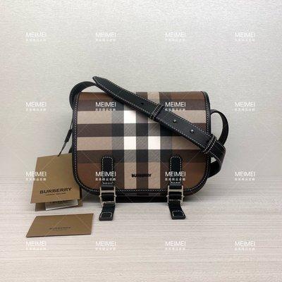 30年老店 預購 BURBERRY Check E-canvas Messenger Bag 格紋 郵差包 斜背包 80365521