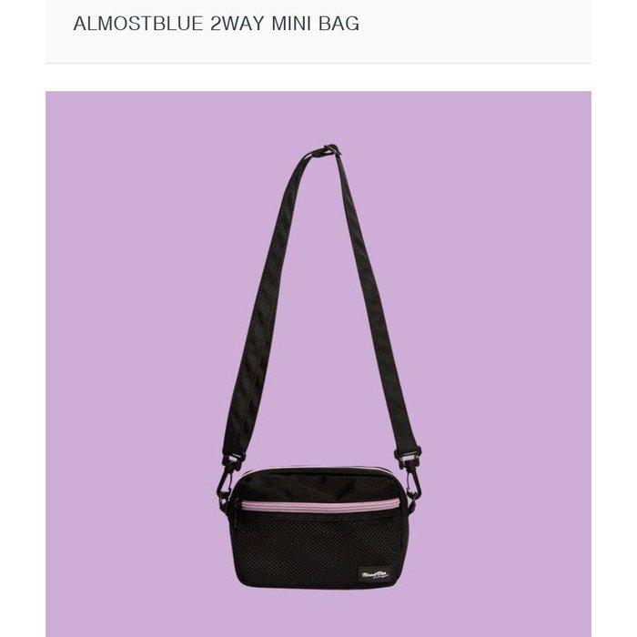 【韓國姐妹淘】( ALMOST BLUE )2WAY MINI BAG 兩用迷你包/側背包/腰包