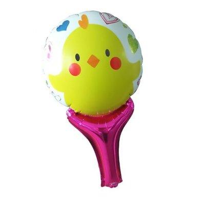 【氣球批發廣場】1號小黄鴨手持棒兒童生日派對活動玩具親子遊戲加油棒球手持拍拍棒