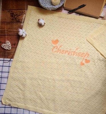 訂做手織bb人名冷氣被 純棉 四季被 bb被 百日宴禮物 嬰兒被 滿月禮物 handmade 手工禮物 聖誕禮物 嬰兒包巾